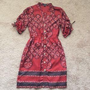 Banana Republic 3/4 sleeve red dress size 0